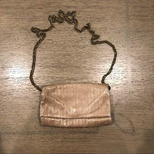 Etui London vintage tri-fold tan shoulder bag